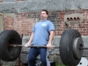 Mike doing tire lift at Lift for Life Event