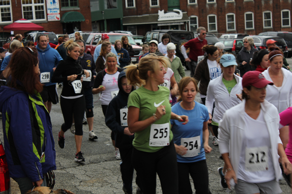 Runners participating in the 5K road race at Fitness Factory, Ware, MA