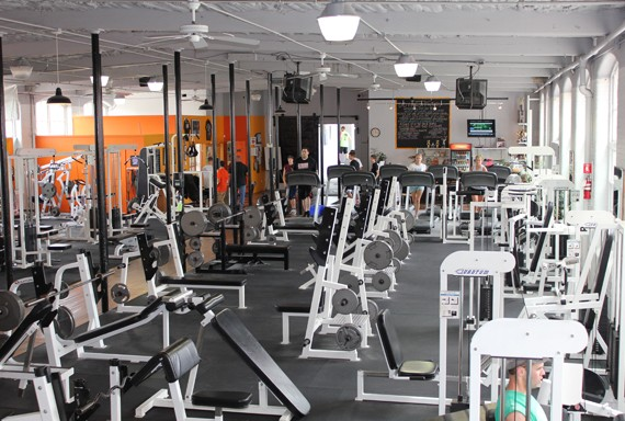 D&D Fitness Factory, Ware, MA, weight area