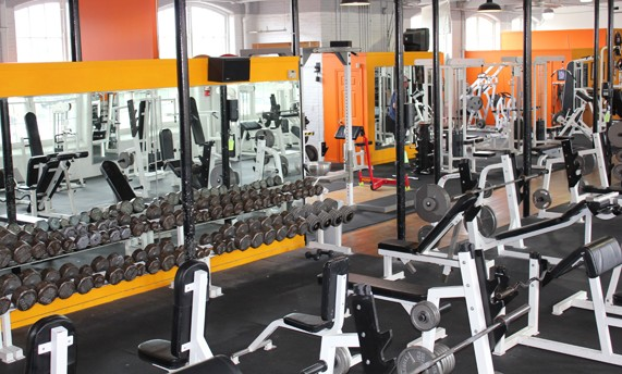 D&D Fitness Factory downstairs weights area